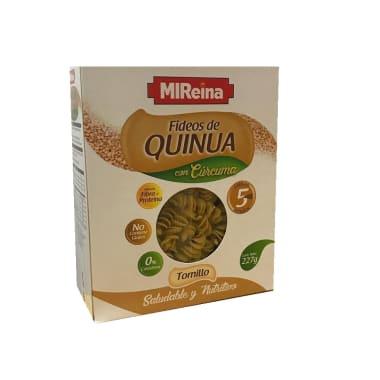 FIDEOS TORNILLOS DE QUINUA C/CURCUMA 227G MI REINA