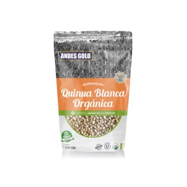 QUINUA BLANCA ORGANICA S/ GLUTEN 500G ANDES GOLD