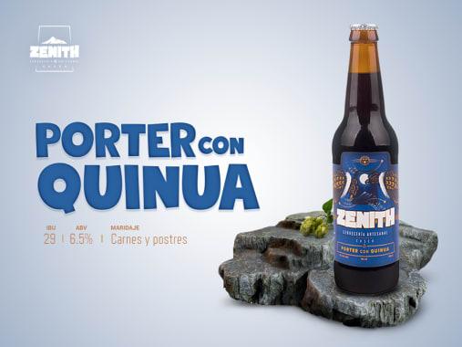 CERVEZA PORTER CON QUINUA 355 ML ZENITH