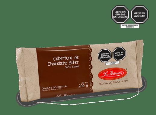 CHOCOLATE BÍTER PARA COBERTURA 52% CACAO X 200 g