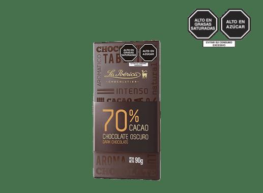 TABLETA DE CHOCOLATE 70%
