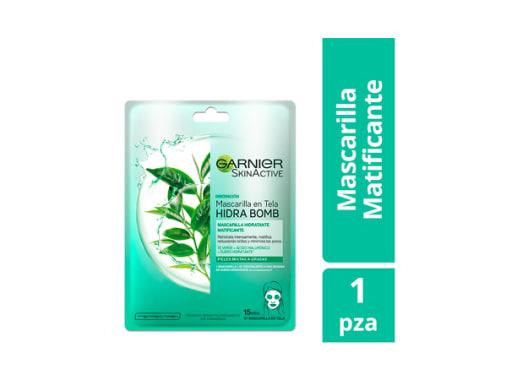Mascarilla en Tela para Rostro Matificante Té Verde Garnier SkinActive