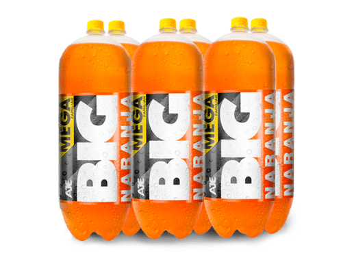 BIG NARANJA PET NO RETORNABLE 3030 ML 6