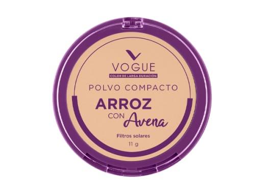 Polvo Compacto de Arroz con Avena tono Vainilla VOGUE