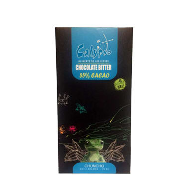 CHOCOLATE BITTER 55% CACAO CHUNCHO 50GR CALYPSO
