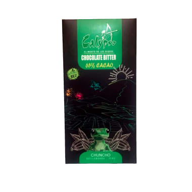 CHOCOLATE BITTER 65% CACAO CHUNCHO 50GR CALYPSO