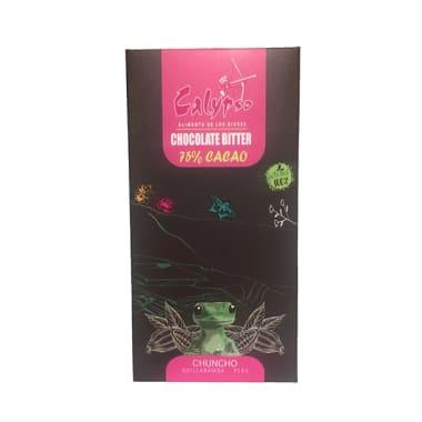 CHOCOLATE BITTER 75% CACAO CHUNCHO 50GR CALYPSO