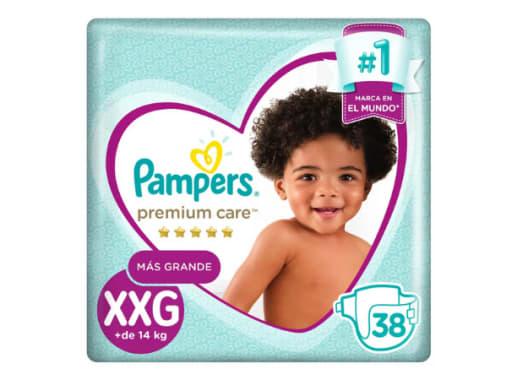 Pañales PAMPERS PREMIUM CARE XXGD x38und