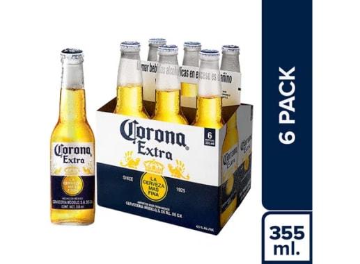 Cerveza CORONA - Six Pack Botella 355 ml