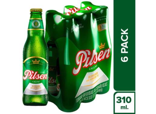 Cerveza PILSEN - Twelve Pack + Six Pack Botella 310 ml