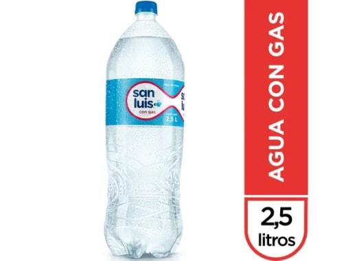 AGUA SAN LUIS CON GAS -  2.5 LT