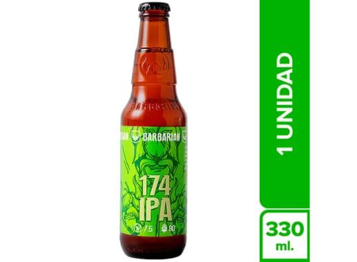 Cerveza Artesanal BARBARIAN 174 Ipa Botella 330Ml