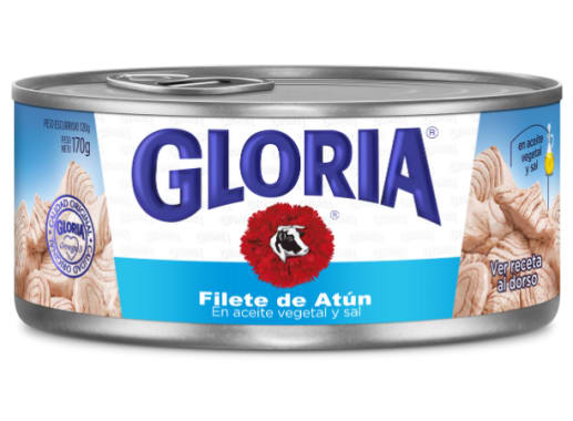 GLORIA FILETE ATUN EN ACEITE VEGETAL 170g