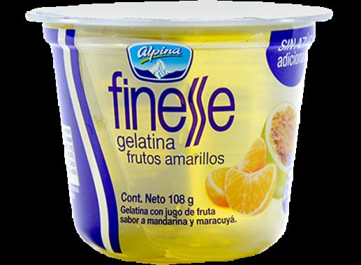 Gelatina Frutos Amarillos Finesse 108gr