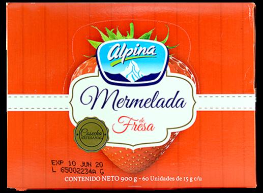 Mermelada Porcion Fresa Alpina 60 X 15gr