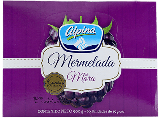 Mermelada Porcionada Mora Alpina 60 X 15gr