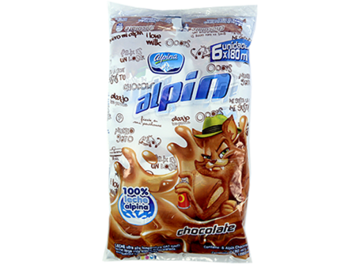 Alpin Chocolate Bolsa Pack X 6 X180ml