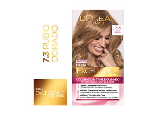 Tinte para Cabello Rubio Dorado 7.3 Excellence Creme
