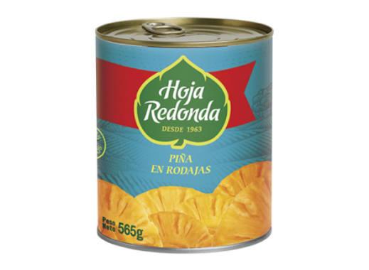 LATA DE PIÑA EN RODAJAS HOJA REDONDA - 565 GR
