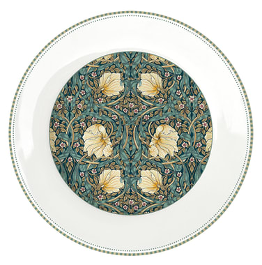PORC.DINNER PLATE Ø 26,5 CM. WILLIAM MORRIS BLACK