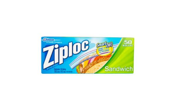 Bolsas para sandwich  Ziploc - 50 unidades