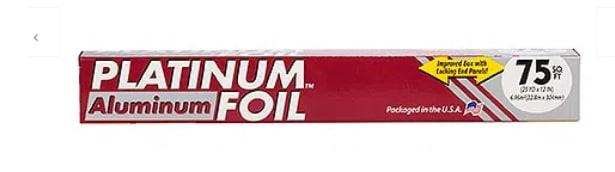 Platinum Papel Aluminio x 75sq ft