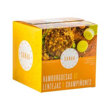 HAMBURGUESA DE LENTEJAS Y CHAMPIÑONES 120G SANUA