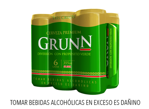 GRUNN CERVEZA REGULAR LATA 355 ML 6