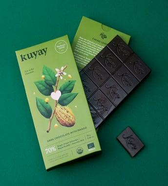 CHOCOLATE DARK 70% MANGO 70G KUYAY