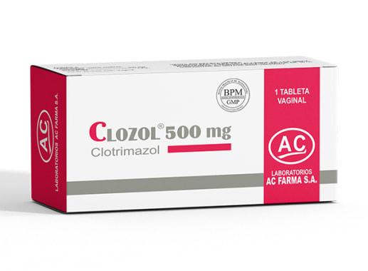 CLOZOL 500 mg - CLOTRIMAZOL (Caja x 01 Tableta Vaginal)