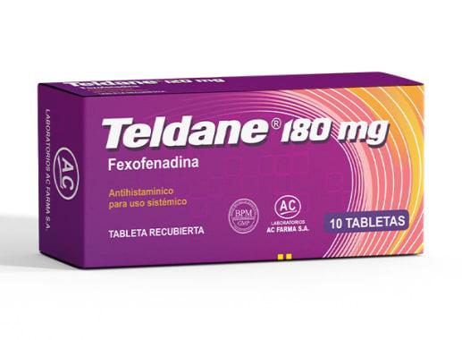 TELDANE 180 mg - FEXOFENADINA (Caja x 10 Tabletas)