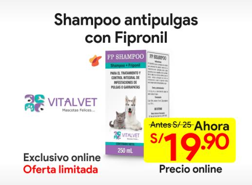 FP SHAMPOO Antipulgas con Fipronil 250 ml