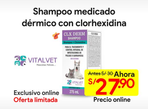 CLX DERM Shampoo Medicado Dérmico con Clorhexidina 250 ml
