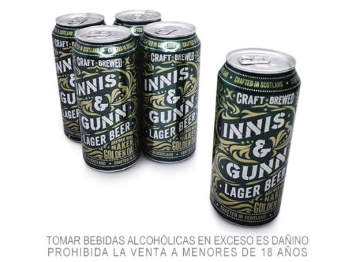Combo Cerveza Innis Lager 4 Latas + 1 Gratis