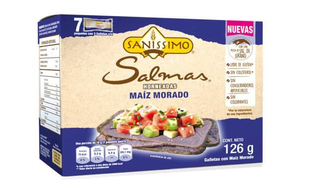 Galletas Sin Gluten Salmas Maíz Morado - Bimbo