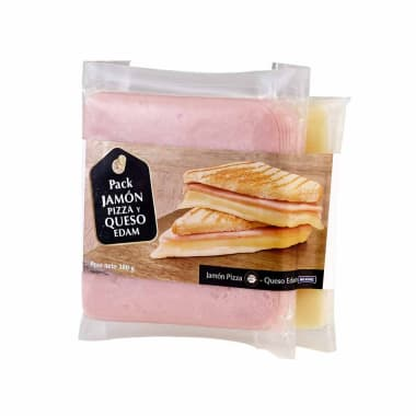 Pack Queso Edam MILKUNZ  + Jamón para Pizza OTTO KUNZ