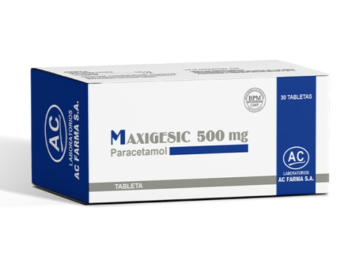 MAXIGESIC 500mg - PARACETAMOL (Caja x 30 Tabletas)