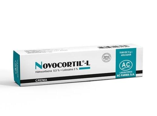 NOVOCORTIL L 1 CREMA X 15g. - HIDROCORTISONA + LIDOCAINA (Caja x 01 Tubo)