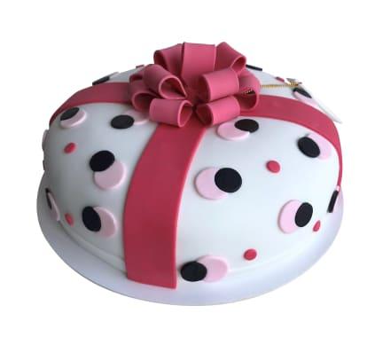 Torta Regalo Rosa