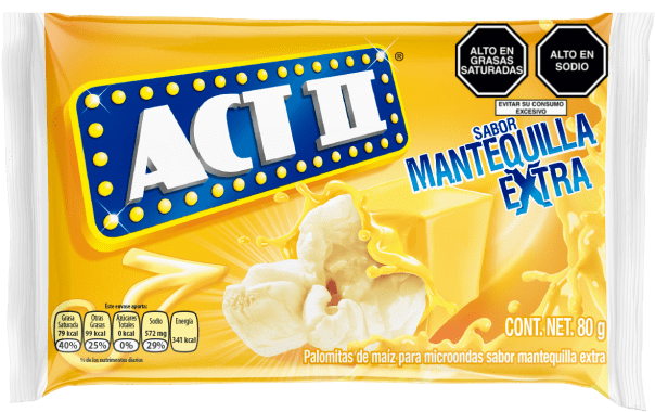 Act II Canchita para microondas Mantequilla Extra