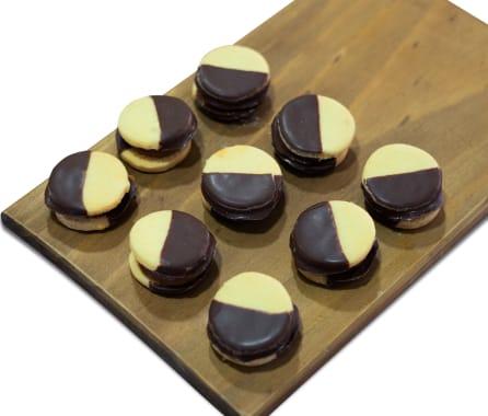 Alfajorcitos con chocolate