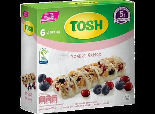 Barra Tosh Yogurt Griego 162gr