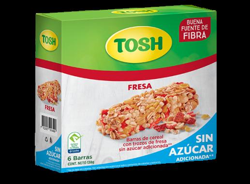 Barra Cereal Tosh Fresa Sin Azucar 138gr