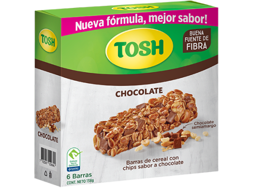 Barra Cereal Tosh Chocolate 138gr