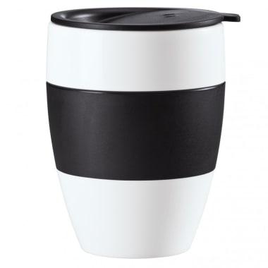 Koziol Vaso térmico c/tapa 400ml AROMA TO GO blanco/negro