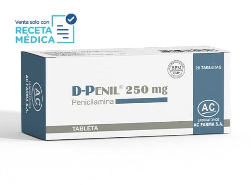 D-PENIL 250 mg  - PENICILAMINA  (Caja x 20 Tabletas)