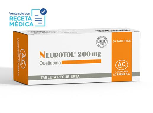 NEUROTOL 200 mg - QUETIAPINA (Caja x 30 Tabletas)