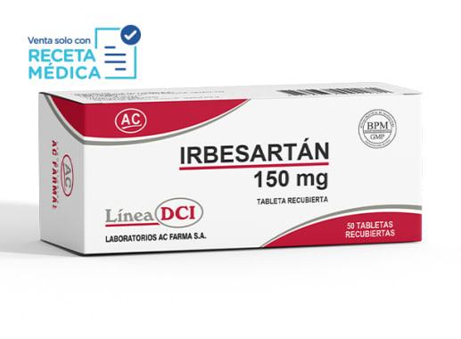 IRBESARTAN 150 mg - IRBESARTAN  (Caja x 50 Tabletas)