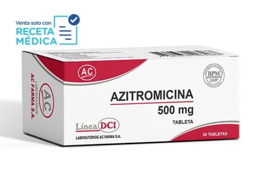 AZITROMICINA 500 mg  - AZITROMICINA (Caja x 30 Tabletas)