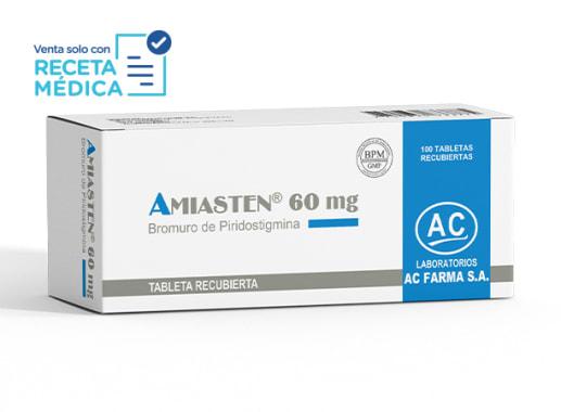 AMIASTEN 60 mg  - BROMURO DE PIRIDOSTIGMINA (Caja x 100 Tabletas)